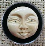 Moon Face- Bone Bead